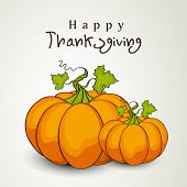 image of brinjal  - Happy Thanksgiving Day background with pumpkins - JPG