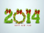stock photo of new year 2014  - Happy New Year 2014 celebration background with decorated text - JPG