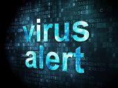 Safety concept: Virus Alert on digital background
