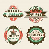 High quality labels. Vector illustration.
