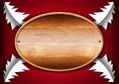 Christmas - Oval Wood Board
