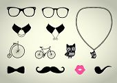 Hipster Accessory Vector Set