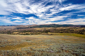 pic of lamar  - Lamar Valley in Yellowstone National Park in late summer - JPG