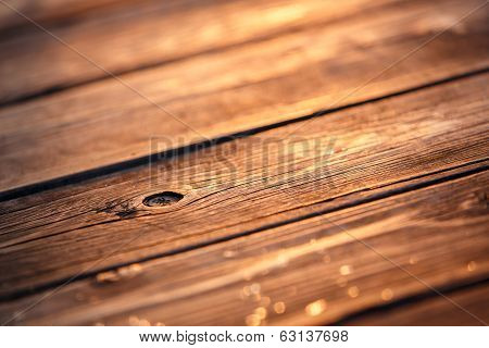 Old Wood Texture In Sunset Light poster