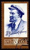 Vintage Postage Stamp.  Portrait V.i. Lenin (uliyanov).