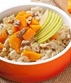 stock photo of lenten  - Oatmeal with pumpkin - JPG