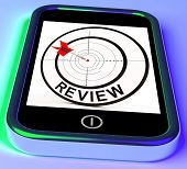 Review Smartphone Shows Feedback Evaluation And Assessment