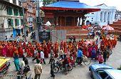 Hindu Pilgrims In Kathmandu, Nepal