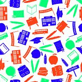 school icon color pattern eps10