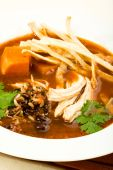 image of chipotle  - Chicken soup spiced with chipotle packed with wild rice sweet potato and tortilla - JPG