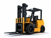 Forklift Truck And Box