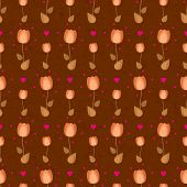 vector seamless flower pattern with tulips
