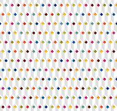 white seamless vector pattern with color rhombuses