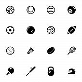 Vector black sport icons set
