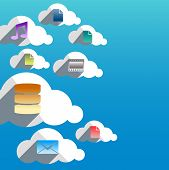 Cloud Computing Abstract Concept With Flat Design Icons