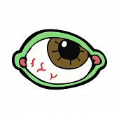 cartoon spooky eye