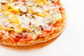 stock photo of take out pizza  - tasty pizza - JPG