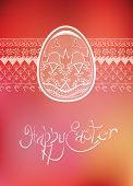 Easter folk ornament egg hand-drawn typography