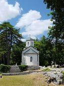 medieval Court Church, the oldest building in Cetinje, Montenegro