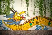 Dragon Painting On A Wall In Lijiang Old Town.