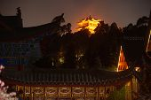 Historical Lijiang Dayan Old Town At Night.