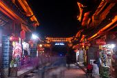 Lijiang Dayan Old Town At Night.