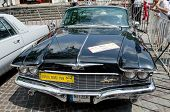 Retro Car Close-up On Display Outdoors In Lvov