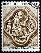 Postage Stamp France 1969 February, Bas-relief
