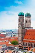 City view of Munich, Frauenkirche, Germany