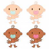 Multicultural Babies Vector