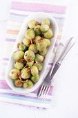 Brussel Sprout With Roasted Almonds