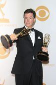 LOS ANGELES - SEP 22: Stephen Colbert in the press room during the 65th Annual Primetime Emmy Awards