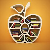 picture of academia  - book shelf in form of apple - JPG