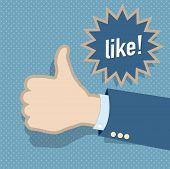 Social media like hand