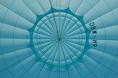 Inside Blue Hot Air Balloon