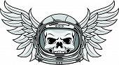 Skull With Astronaut Visor