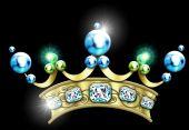 Vintage Jeweled Crown