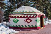 picture of mongol  - Yurta in Ufa Bashkortastan Russia at the winter day - JPG