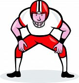 American Football Center Snap Front Cartoon
