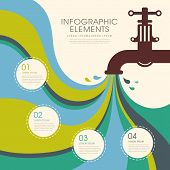 Creative Faucet Infographics Design