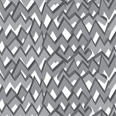 Black-white monochrome zigzag line seamless pattern