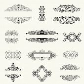 Vector Set Of Decorative Floral Elements......