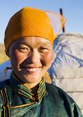 pic of mongolian  - Mongolian woman in traditional dress - JPG
