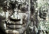 Buddha faces at Angkor Thom, Siam Reap, Cambodia.