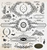 foto of flourish  - Set of Retro Vintage Insignias and Logotypes - JPG