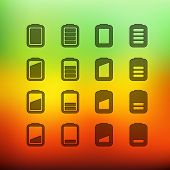 Web interface icons clip-art on color background. Design elements
