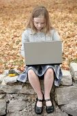 Student And Laptop