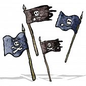 cartoon pirate flags