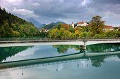 Lech River in Fussen, Germany, Europe