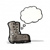 work boot cartoon